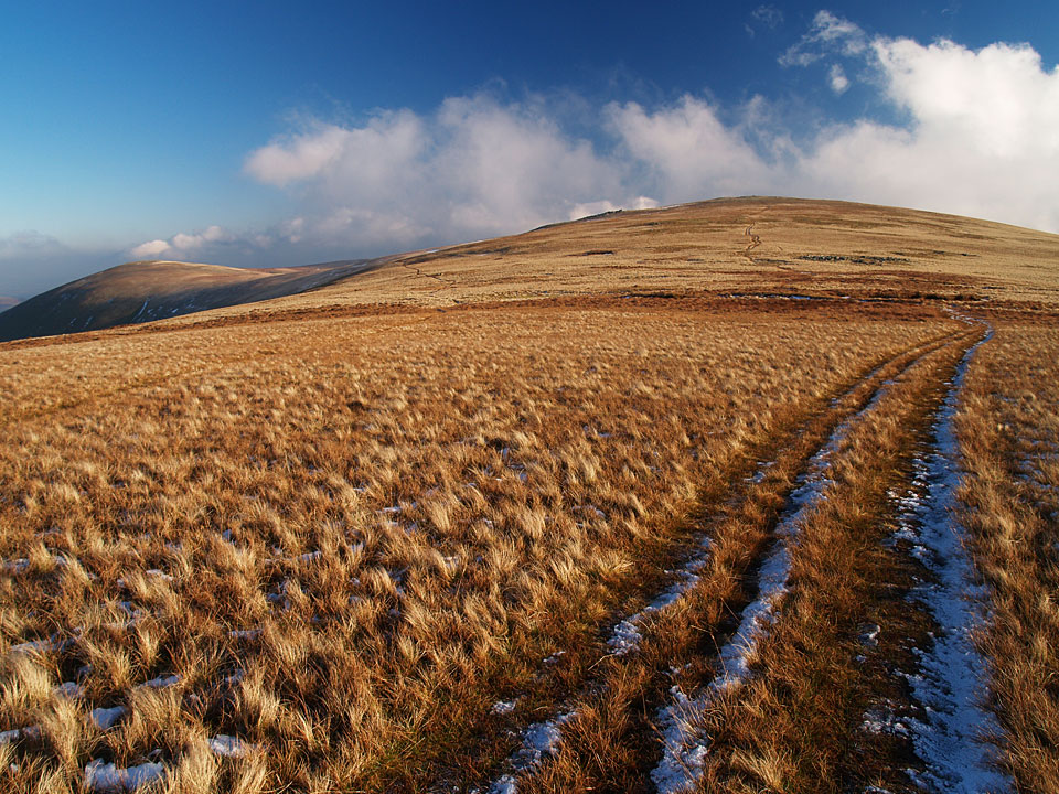 Looking back to White Stones and Hart Side from the climb to Stybarrow Dodd