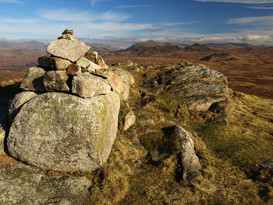 Looking to Harter Fell from the summit of Rough Crag