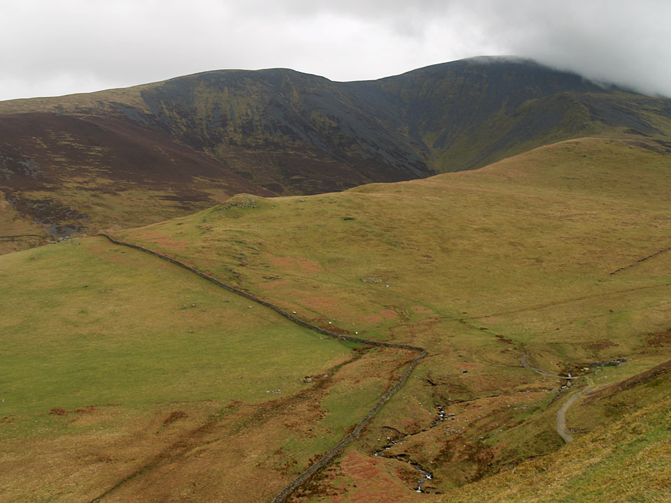 Broad End and Skiddaw across Southerndale