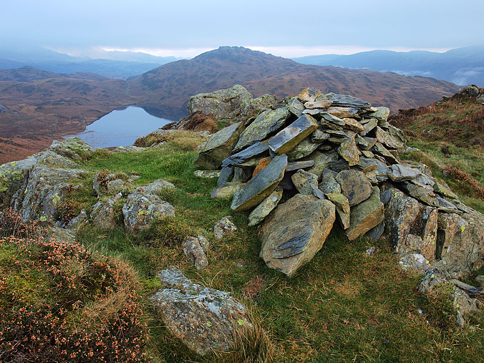 Beacon Fell and Tarn from the summit of Wool Knott