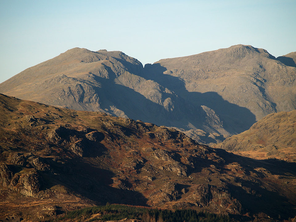Scafell and Scafell Pike from Green Pike