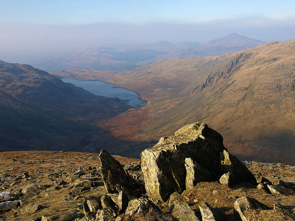 Seathwaite Tarn from Great How Crags