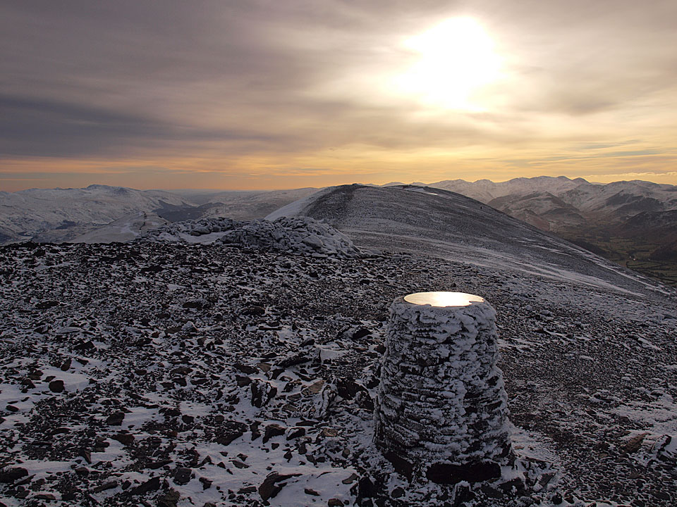 Winter on Skiddaw summit