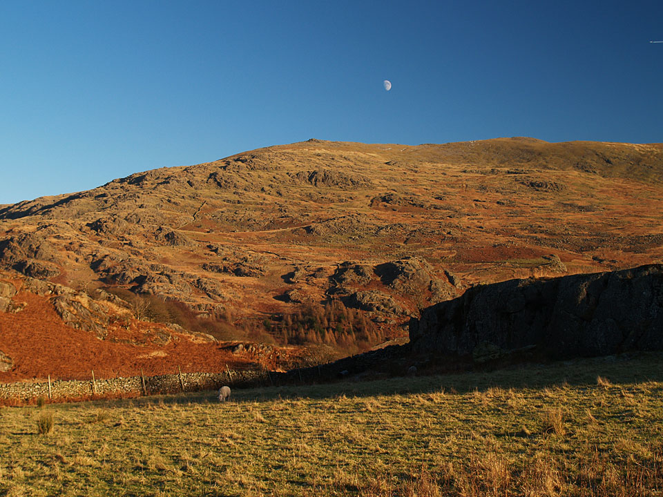 An interesting view of Dow Crag from the 'back', in the Duddon Valley