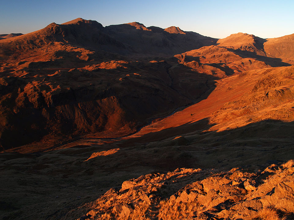 Sunset on Eskdale from Border End