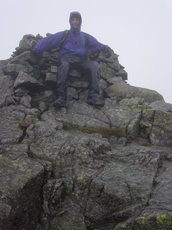 Me sitting on The Chair on Red Pike.