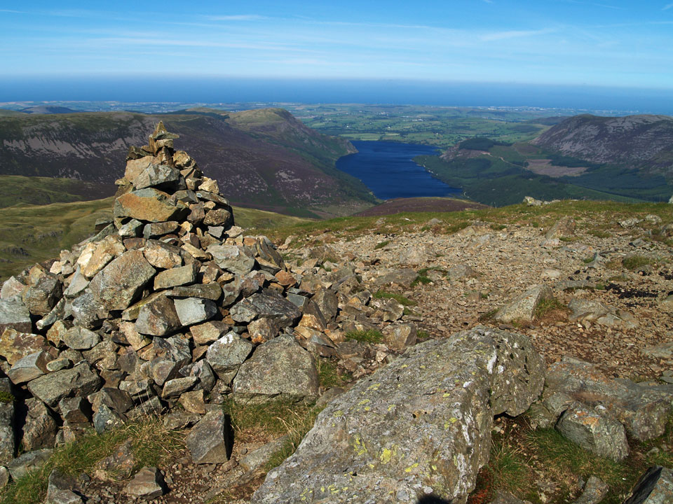 Ennerdale Water from the summit of Steeple