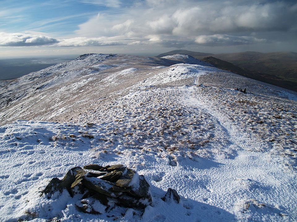 Looking back from Walna Scar to White Maiden and White Pike