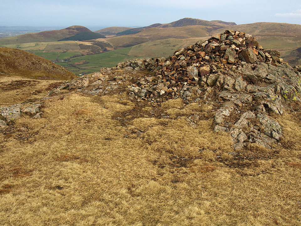 The north-western fells from the summit of Crag Fell