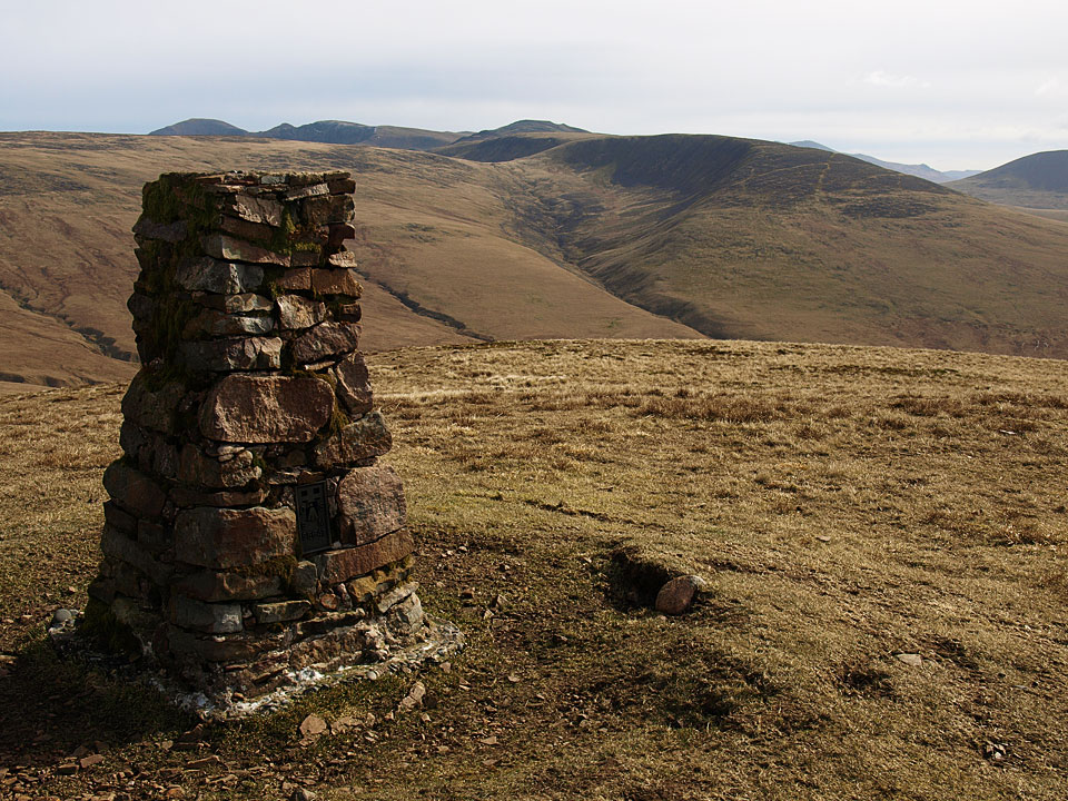 Caw Fell from the summit Lank Rigg