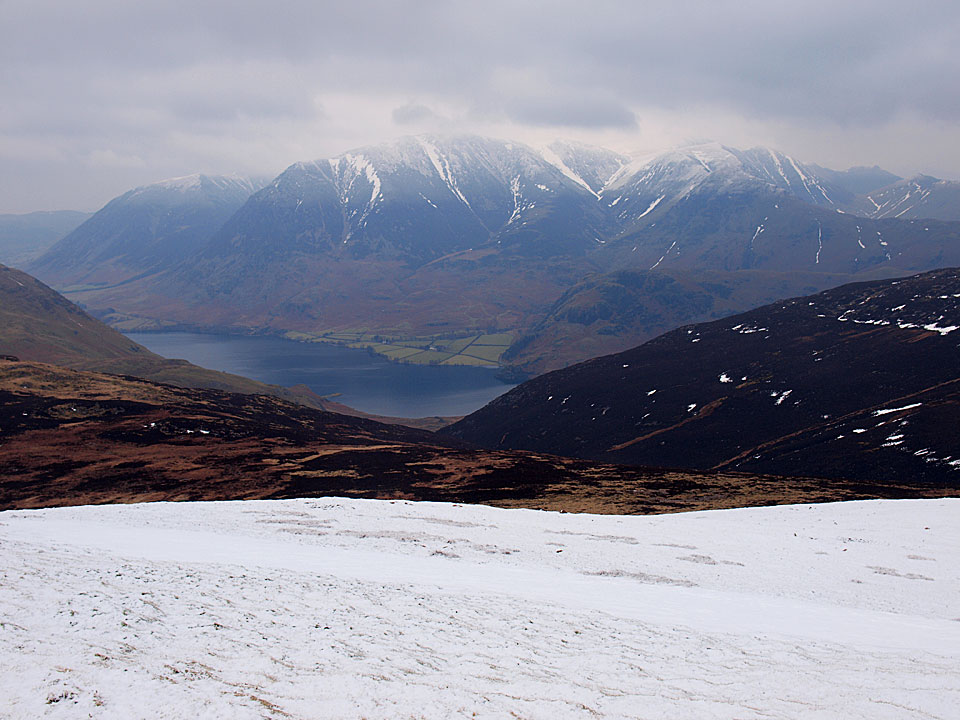 Grasmoor and Crummock Water from Starling Dodd