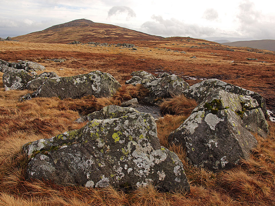 Carrock Fell and Round Knott to the right from Miton Hill