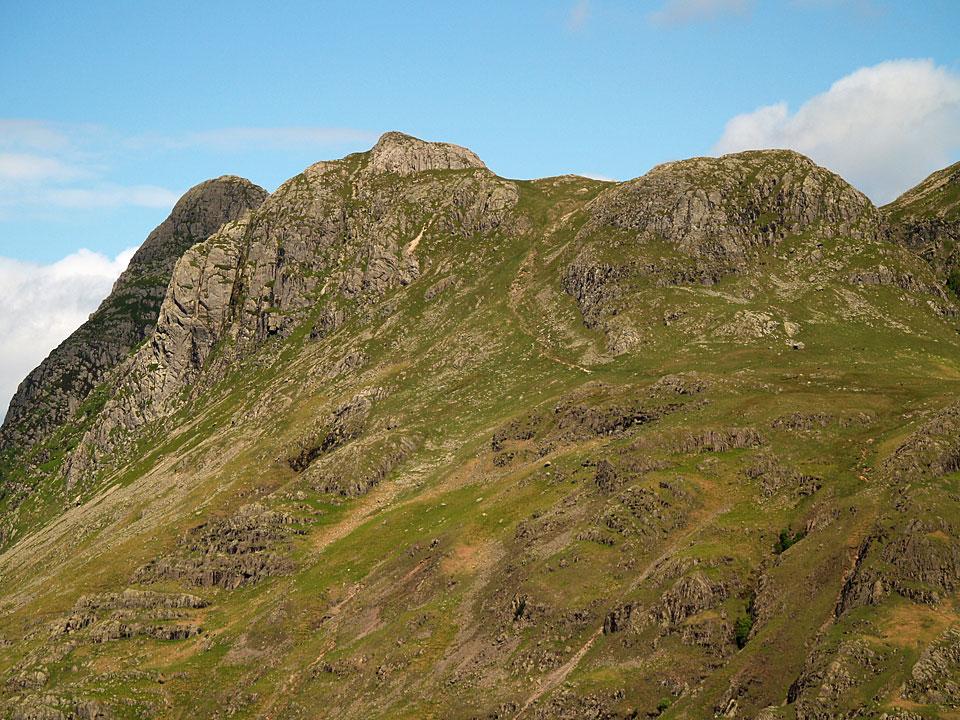Pike o' Stickle, Loft Crag and Thorn Crag