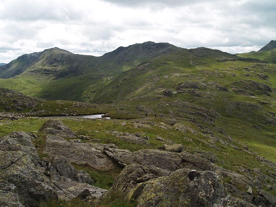 Bow Fell and Esk Pike from Lincomb Head on Glaramara