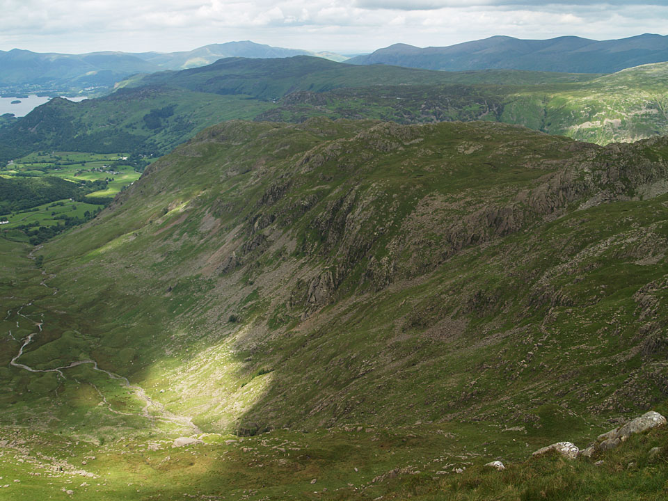 The Combe and Rosthwaite Fell from Combe Head