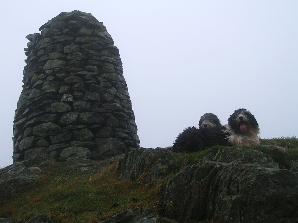 The cairn on High Knott, better known as Williamson's Monument