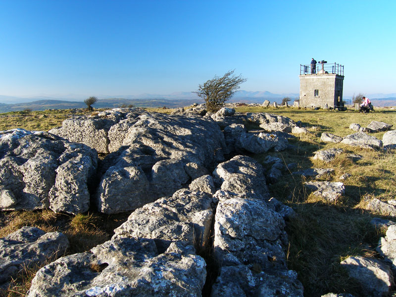 The Hospice on Hampsfell and limestone pavement
