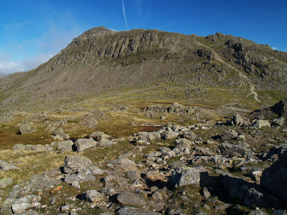 Bowfell from Shelter Crags