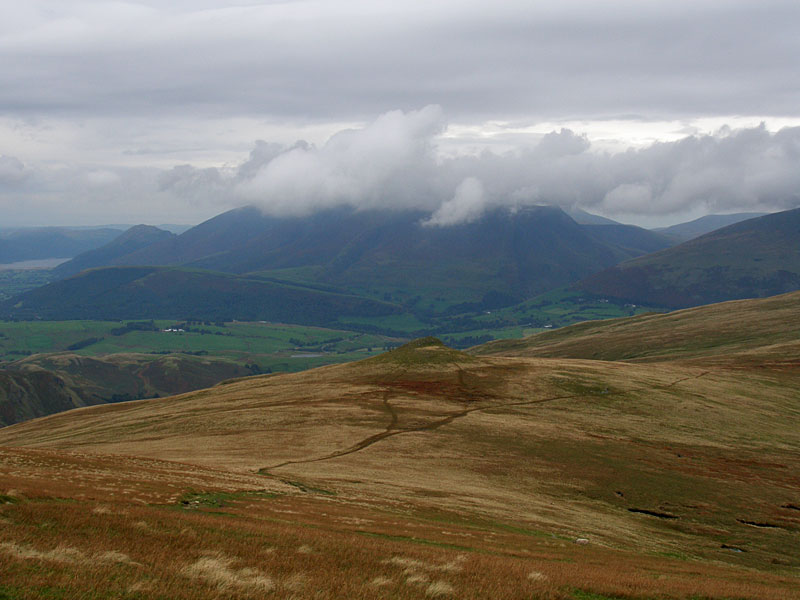 Skiddaw from Little Dodd, Calfhow Pike below