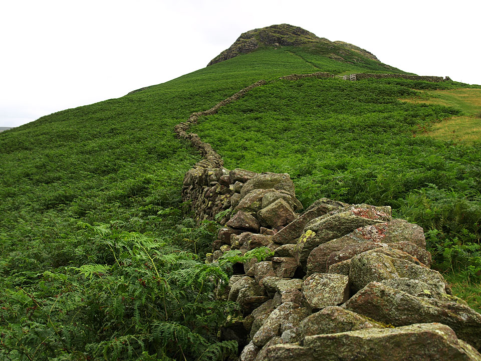 The climb to Steel Fell from the south