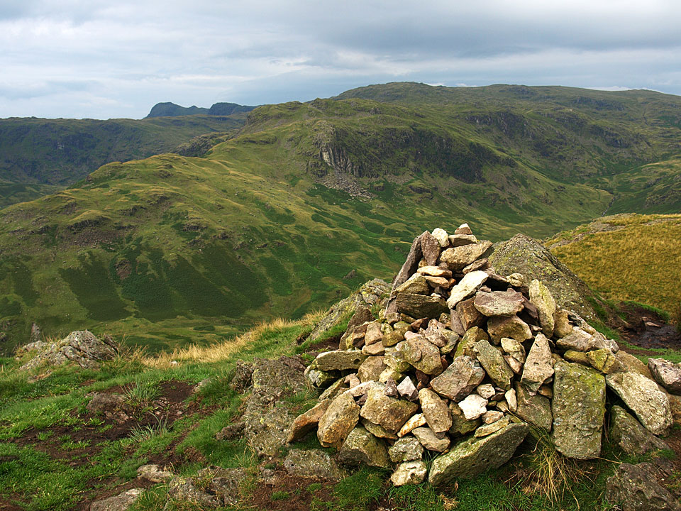 The Langdale Pikes beyond Tarn Crags from Gibson Knott