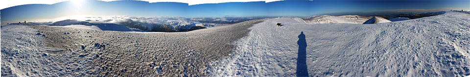 a 360 degree panorama from Helvellyn. Select on the image to open a larger version.