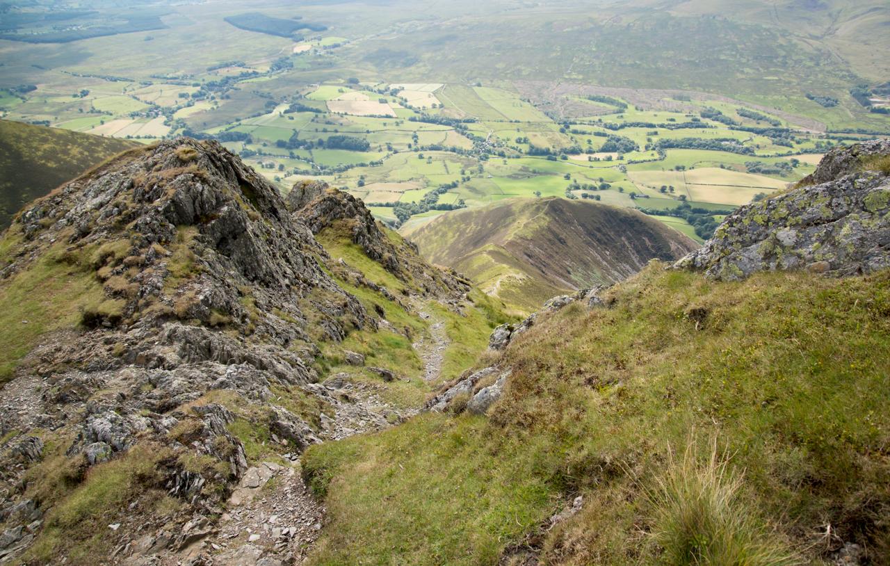 Looking down the Doddick Fell ridge from Doddick Fell Top