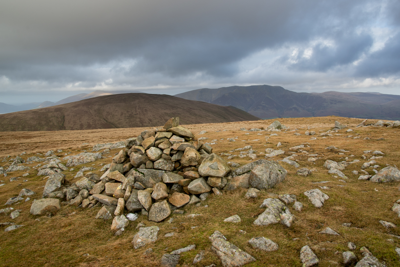 The view from Randerside across Clough Head to Blencathra