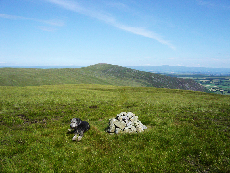 A quick rest on Coomb Height, with Carrock Fell in the background