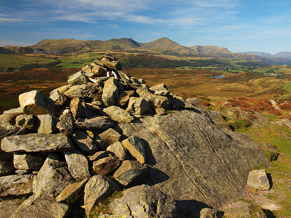 The Coniston fells from the summit of Beacon Fell