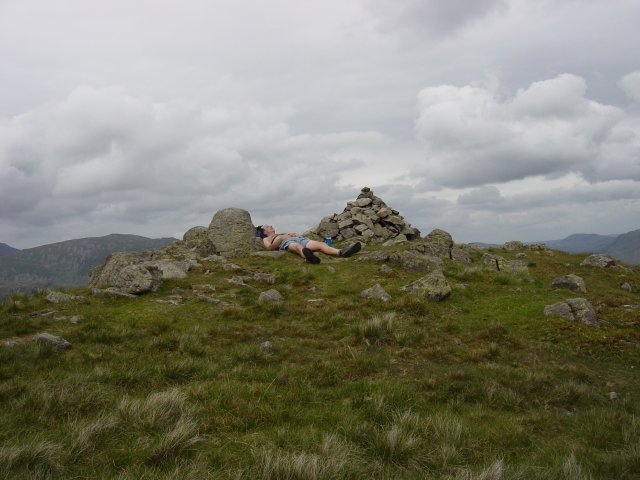 Middle Dodd summit complete with sleeping man!
