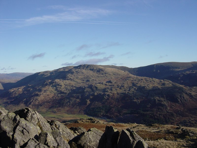 Grey Friar with the Swirl How ridge behind from Demming Crag