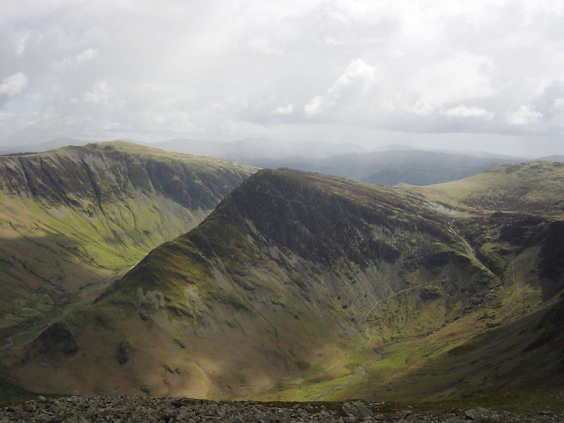 Fleetwith Pike and Dale Head from High Crag.