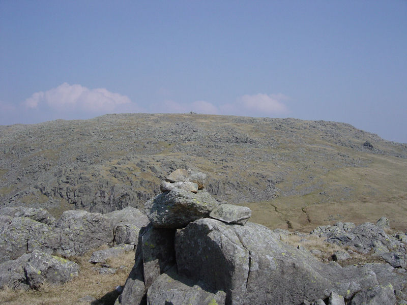 The main summit of Glaramara from Looking Stead