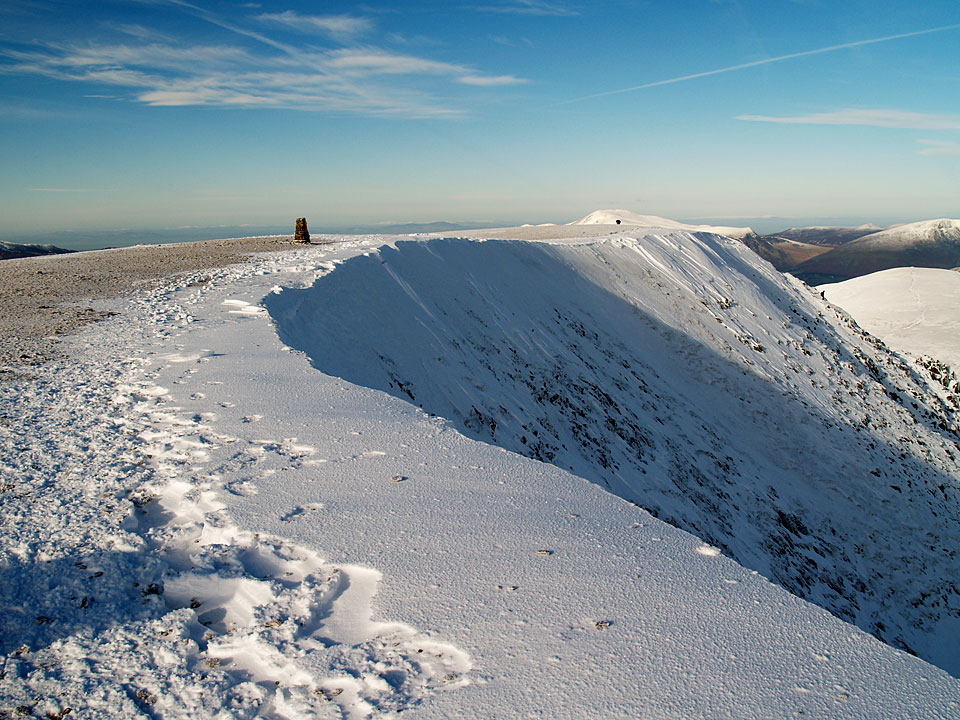 Snow on the summit of Helvellyn