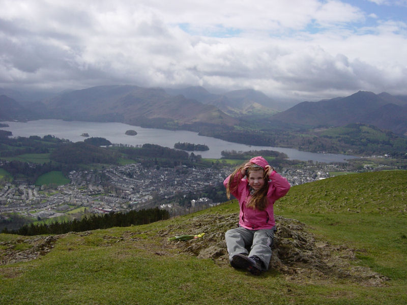 Connie on the summit of Latrigg