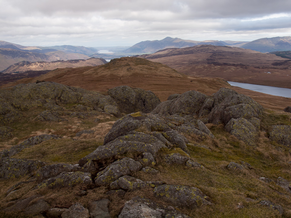 Low Saddle and Great Crag from High Saddle