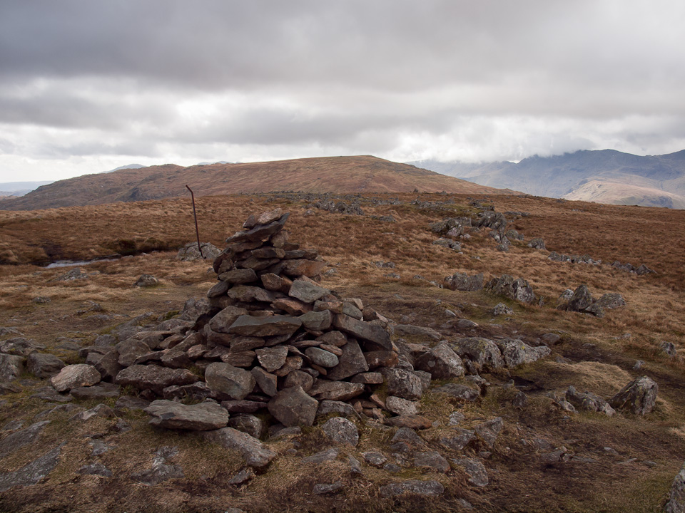 Ullscarf summit, looking to High Raise