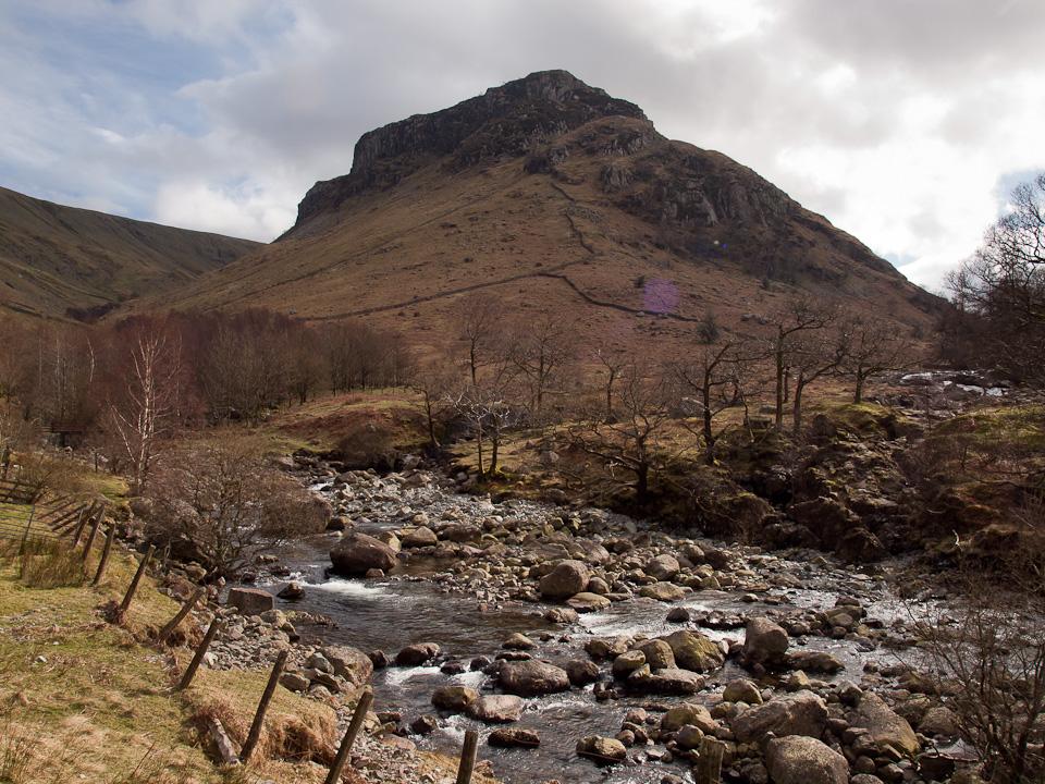Eagle Crag from Stonethwaite Beck