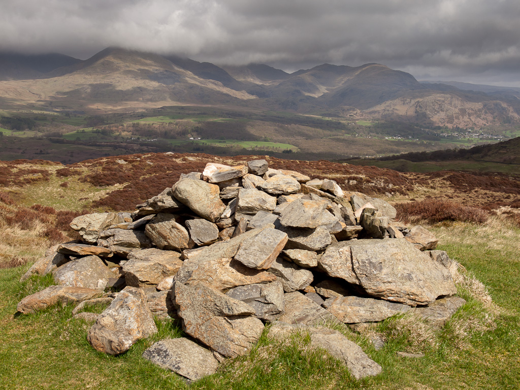 The Old Man and Wetherlam from Top o' Selside