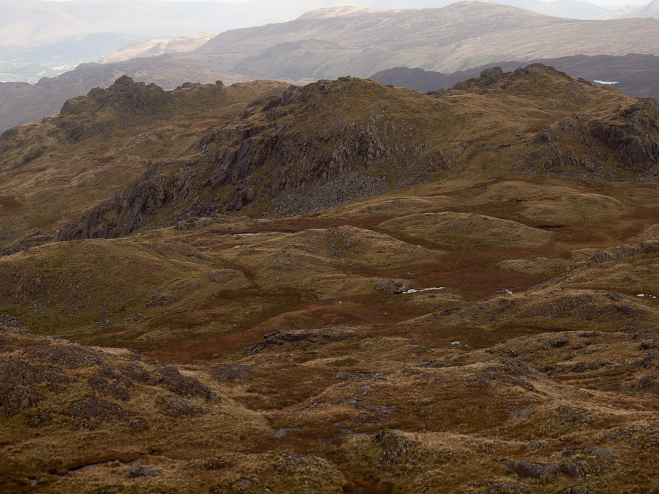 Rosthwaite Cam and Dovenest Crag (called Stonethwaite Fell by Birkett)