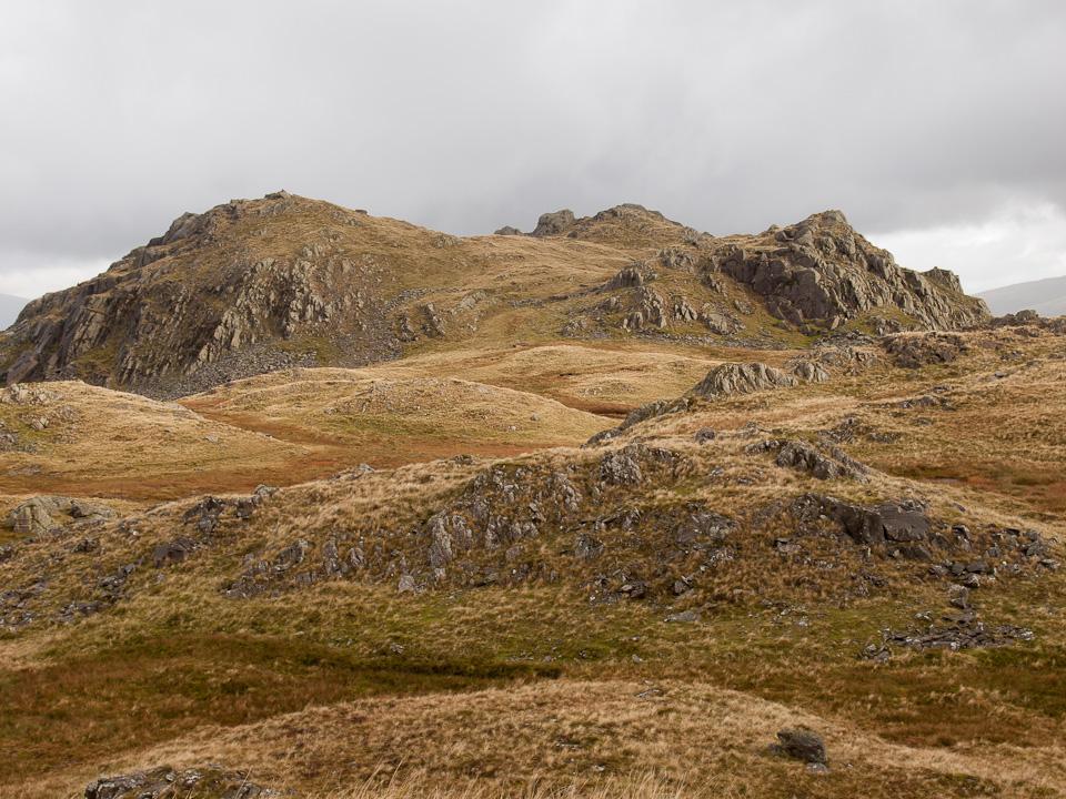Stonethwaite Fell summit to the left