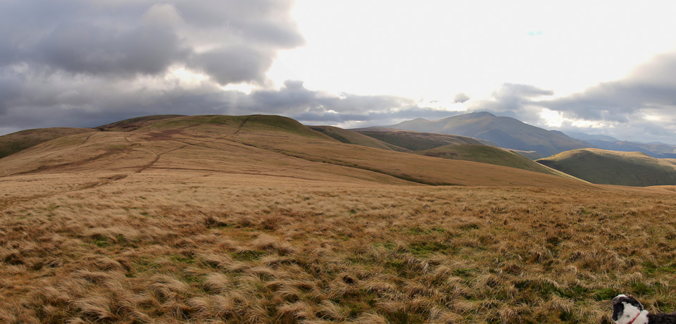 The path to Little Sca Fell, left to centre