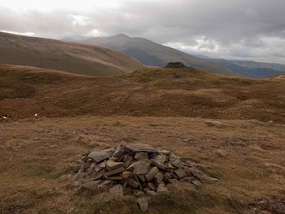 Looking across Meal Fell summit