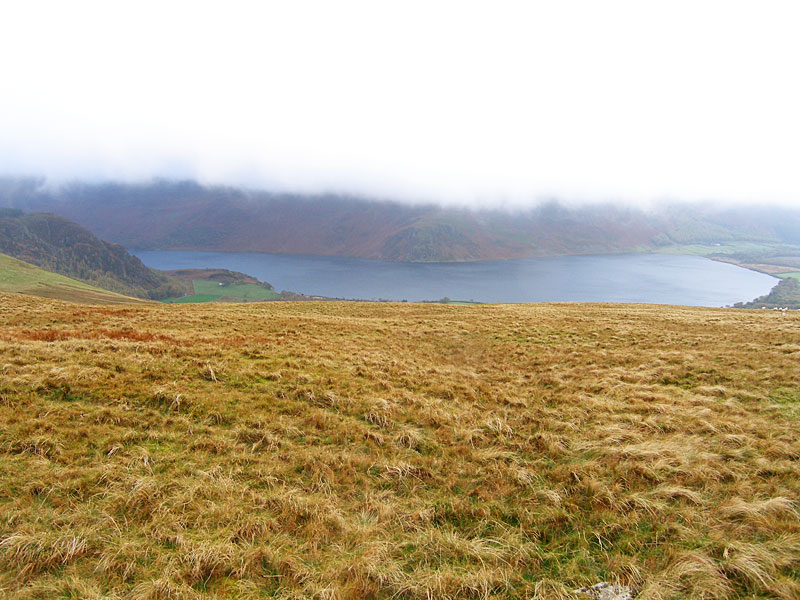 Anglers Crag across Ennerdale Water from Banna Fell