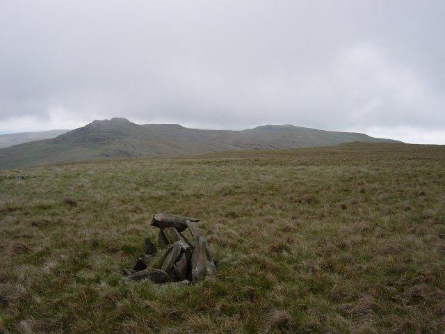 The summit of Burn Moor looking south to Buck Barrow and Kinmont Buck Barrow