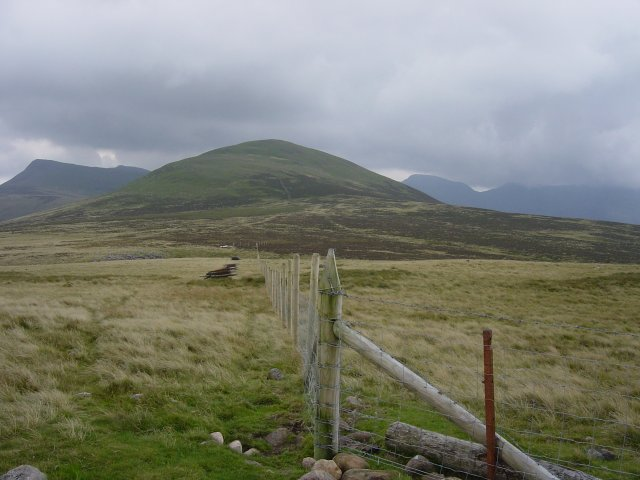 Starling Dodd from the top of Gale Fell, the summit being marked by the fence corner post