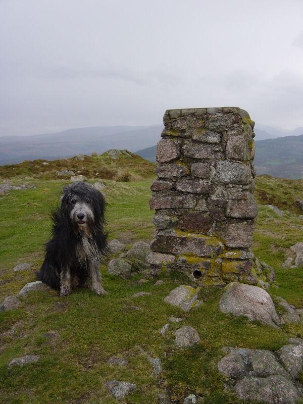 Hooker Crag, the summit of Muncaster Fell