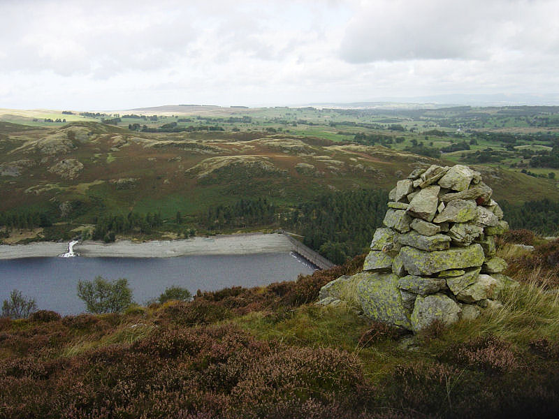 Hugh's Laithes Pike, looking down to Haweswater Dam