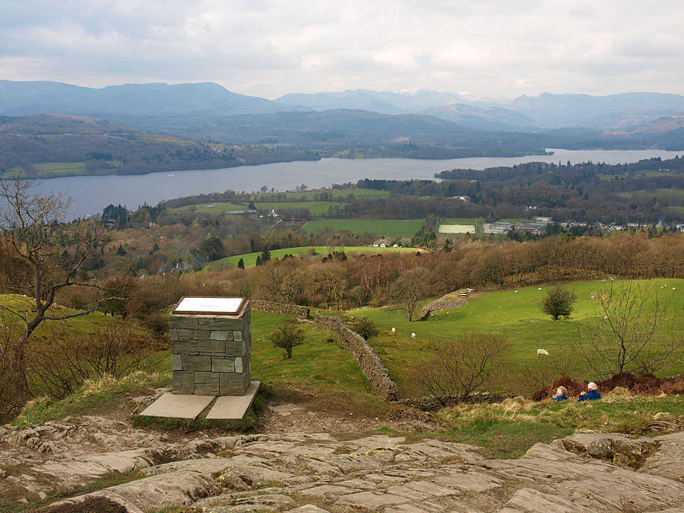 The view from Orrest Head - Wainwright's first fell